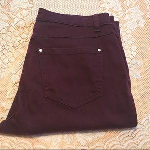 Lauren Conrad Plum Purple colored skinny jeans; 10
